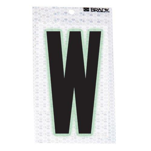 Brady 3010-W, 52296 Glow-In-The-Dark/Ultra Reflective Letter - X, 12 Packs of 10 pcs