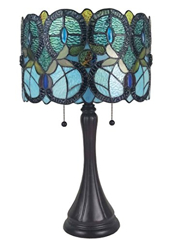 Tiffany-Style Lily Giclee Droplet Table Lamp – Giclee Glow