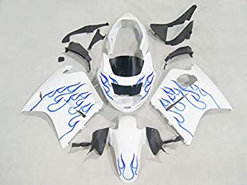 Blue Flame Painted Fairings Fits Motorcycle Honda CBR 1100XX Blackbird 1997-2007