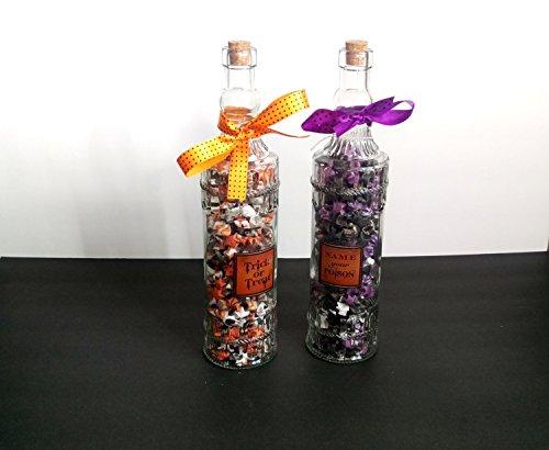 (Halloween Decorative Bottles - Paper Star Filled Bottles - Trick or Treat Decorations)