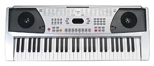 Funkey 54 - Teclado (100 sonidos, 100 ritmos, adaptador de corriente, entrada de micrófono, atril)