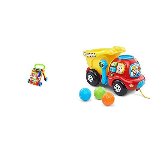 Vtech Sit To Stand Learning Walker  Frustration Free Packaging  With Vtech Drop And Go Dump Truck Bundle