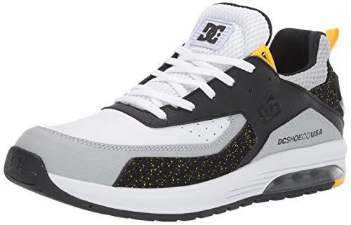 (DC Men's VANDIUM SE Skate Shoe, Black/Grey/Yellow, 13 M US)