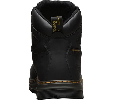 Dr. Martens Mens Deluge Eh St 6 Eye Leather, Stivali Da Lavoro In Gomma Nero