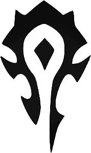World of Warcraft Horde Symbol - Vinyl 5.5 Inches (Color: Black) Decal Laptop Tablet Skateboard Car Windows Sticker