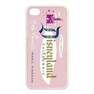 Vintage Disneyland Ticket TPU Case For Iphone 4 4s by lolosakes