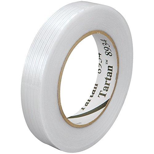 3M Tartan 8934 Utility-Grade Glass Filament Tape - T9148934 - 4 Mil - 0.75'' X 60 Yard Roll - Clear - Lot of 48 by Tartan