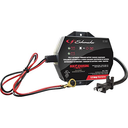 Schumacher SC1300 Fully Automatic Onboard Battery Charger - 1.5 A, 6/12V