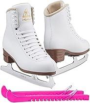 Jackson Ultima Mystique Figure Ice Skates for Women, Girls, Men, Boys in White and Black Colors - Improved, JU