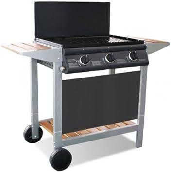 COOK'IN GARDEN Barbecue Gaz PUERTA LUNA 3 TITANE (3 brûleurs)