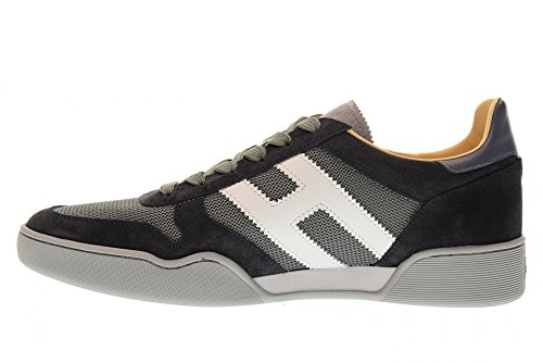 Hogan Scarpe Uomo Sneakers Basse HXM3570AC40IPJ931F H357 Blu Grigio