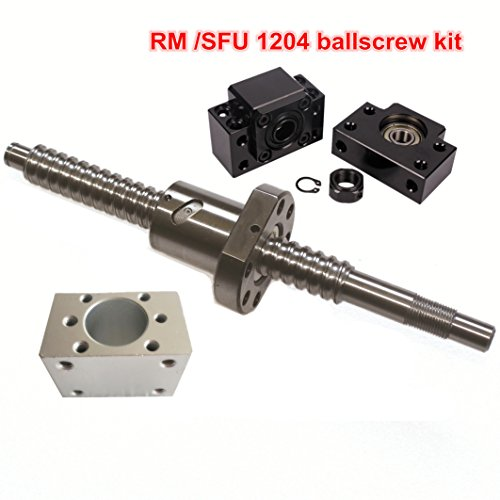 SFU1204 500mm Ballscrew kit + Set BK/BF10 Kit + 1204 Ballscrew RM1204 L500mm ball screw with Ball Nuts + Screw Nut Housing for CNC Machine