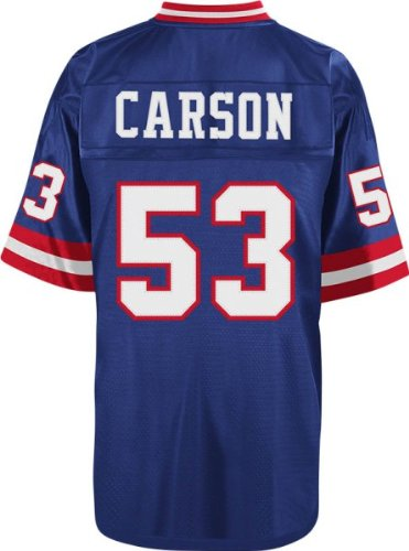 Harry Carson New York Giants NFL Mitchell & Ness Throwback Premier Jersey - Blue