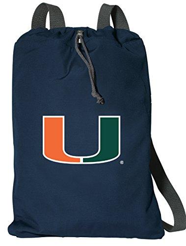 Broad Bay University of Miami Drawstring Backpack Rich Cotton Miami Hurricanes Cinch Bag