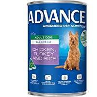 Advance Adult and Senior Chicken Turkey & Rice 410g Dog Wet Food, pack of 12