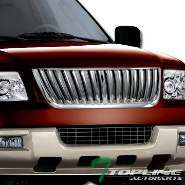 CHROME VERTICAL SPORT STYLE FRONT HOOD BUMPER GRILL GRILLE 03-06 FORD (Expedition Vertical Grille)