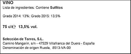 Torres Verdeo Vino Blanco DO - Rueda, 750ml