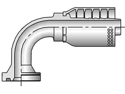 Parker Parkrimp Permanent SAE Code 62 Flange Head - 90° Elbow (Hydraulic Flange Head)