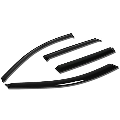 (For Matrix E130 / Pontiac Vibe 4pcs Tape-On Window Visor Deflector Rain Guard)