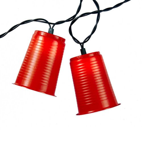 Kurt Adler UL1882 UL 10-Light Party Cup Light Set, Red -