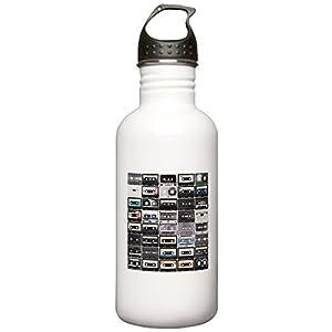 CafePress - Cassette Tapes Water Bottle - Stainless Steel Water Bottle, 1.0L Sports Bottle
