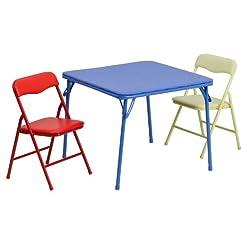 Flash Furniture Kids Colorful 3 Piece Fo...