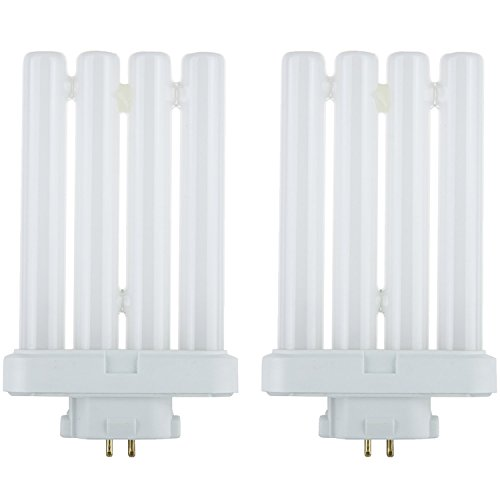 Pack of 2 27-watt Daylight Replacement Bulb for Most Reading Lamps and Floor Lamps FML 4-Pin Quad Tube CFL Light Bulb, GX10Q-4 Base, Daylight Light Fluorescent Floor Lamp