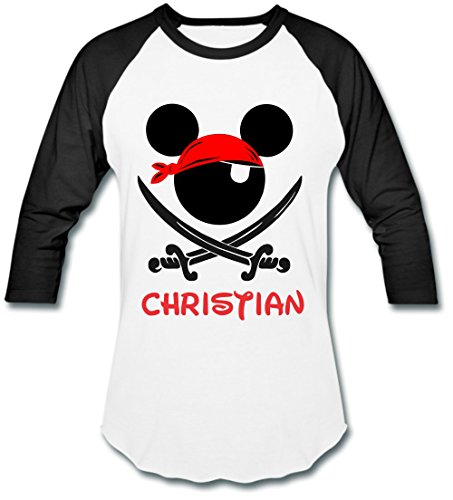 DisGear Pirate Night Mickey Disney Cruise Lines T-Shirt for Adult Men and Youth with Personalization Option