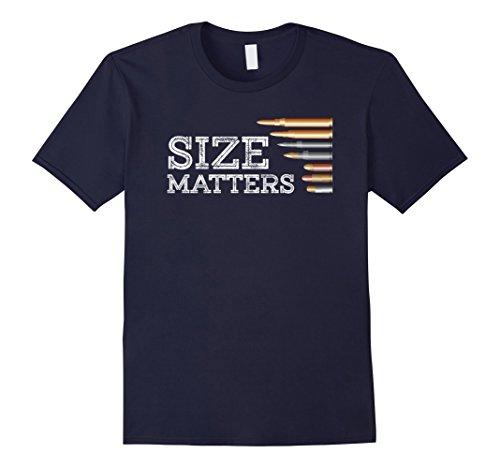 Bullet Mens Tee (Mens Gun Shirt, Size Matters Funny Bullets T-Shirt 2XL Navy)