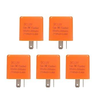 Amazon.com: 5 unidades de 12 V 2 pines regulables de relé de ...
