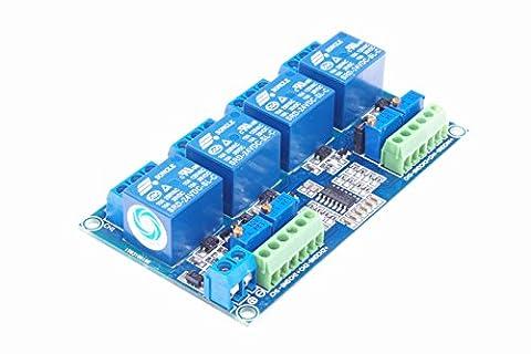 SMAKN® DC 24V 4-Channel Voltage Comparator Professional LM393 Comparator Module - Four Channel Module