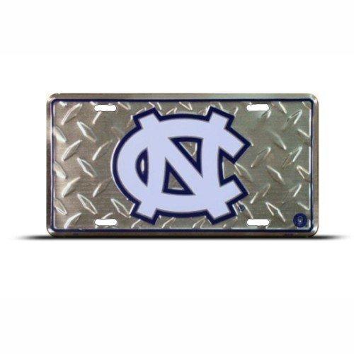 North Carolina Tar Heels Diamond License Plate Tin Sign 6 x 12in (Plate Carolina Diamond)