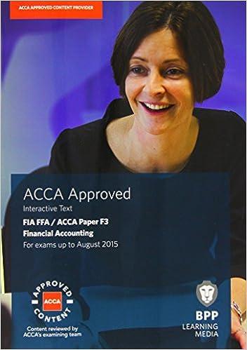 FIA Foundations of Financial Accounting FFA (ACCA F3): Paper