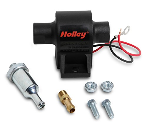 Holley 12-428 Mighty Might Electric Fuel Pump Free Flow GPH 34 Free Flow LPH 129 1/8 in. NPT Inlet Compatible w/all Fuels 12 Volt 7-10 psi. Street Or Diesel Carbureted Steel Mighty Might Electric Fuel Pump
