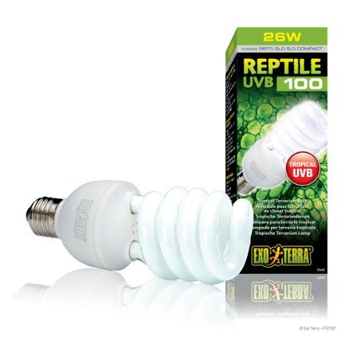 Exo Terra Repti-Glo 5.0 Compact Fluorescent Tropical Terrarium Lamp, ()