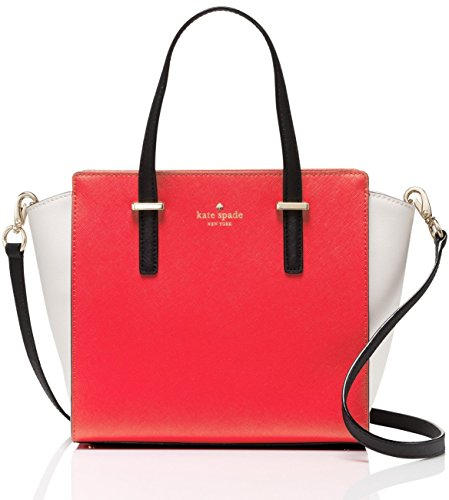 Kate Spade Cedar Street Small Hayden Satchel (Cherry Liqueur / Ballet / Black) by Kate Spade New York