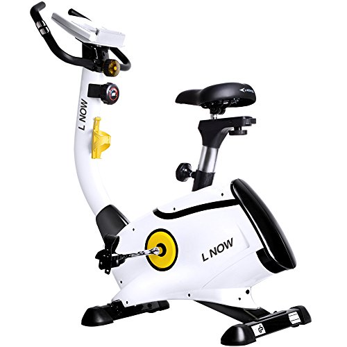 L NOW Upright Bike Magnetic Resistance Exercise Bike Indoor Stationary Bike D808 ()
