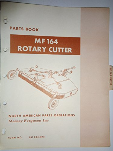 Massey Ferguson MF 164 Rotary Cutter Parts Catalog Book Manual Original 9/69
