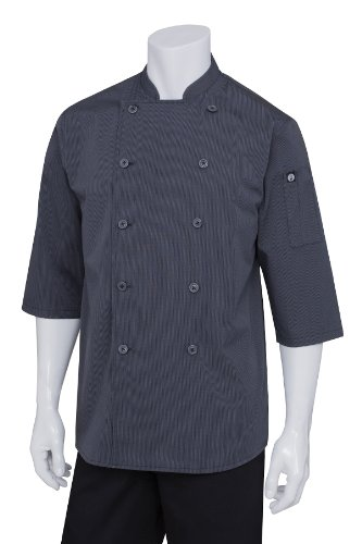 Chef Works Men's Brighton Chef Coat, Deep Grey, X-Large by Chef Works