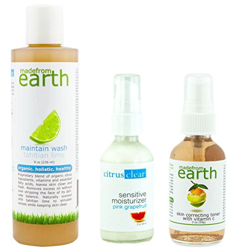 Combination Skin Essentials Set | Face Wash, Toner & Moisturizer | Balances Complexion for Clear Skin | Organic, Natural & Made in the USA