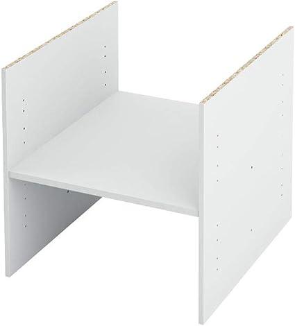 compartimento adicional para Ikea Kallax. (Blanco)