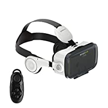 Clever Bear BoBo VR Z4 Virtual Reality 3D Glasses with Headphone Support Android iOS and PC Phones Series Smart Phones and Remote Controller