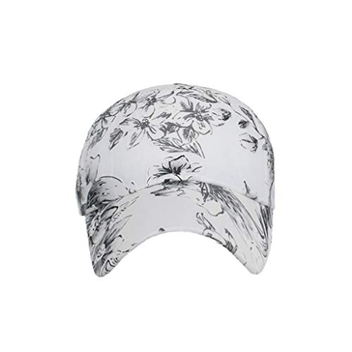 - DDKK hat Unisex Classic Flower Pattern Cotton Baseball Cap Sun Hat Adjustable Plain UV SPF 50+ Portable Caps Black