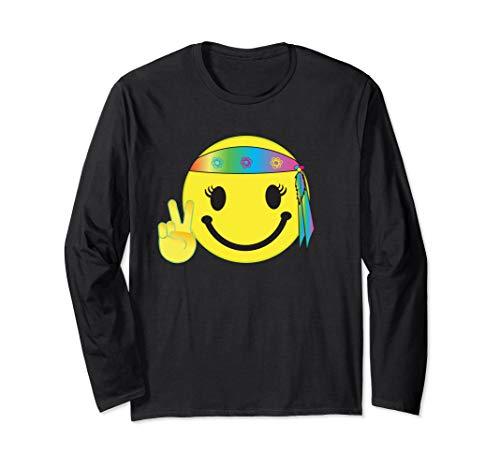 Cute Smiley Happy Hippie TShirt Headband Bandana Shirts Tee
