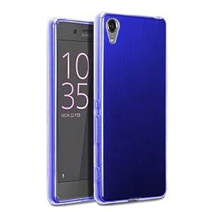 Donkeyphone - Funda Carcasa DE Silicona Azul para Xperia XA Gel TPU Lisa Transparente