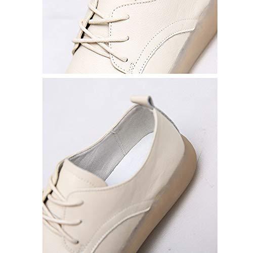 Planos Beige Ocasionales Zapatos Trabajo Perezosos Para Mujer Mocasines zndA6BH