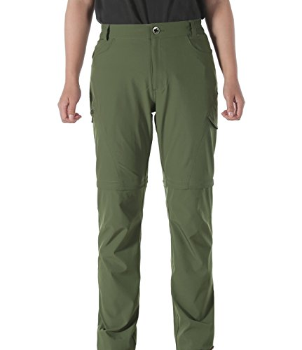 Convertible Golf Shirt (Makino Convertible Trekking Trousers for Women (Army Green W32/L32))