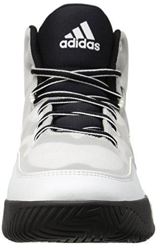 Scarpa Da Basket Adidas Performance Mens Pazza Eruzione Bianco / Nero Bianco