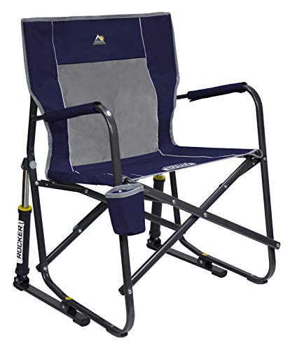 (GCI Outdoor Freestyle Rocker Portable Folding Rocking Chair, Indigo)