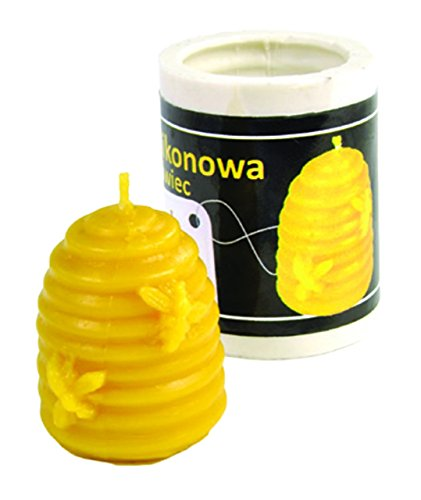 Small Skep Beeswax Candle (Beeswax Candle Molds)